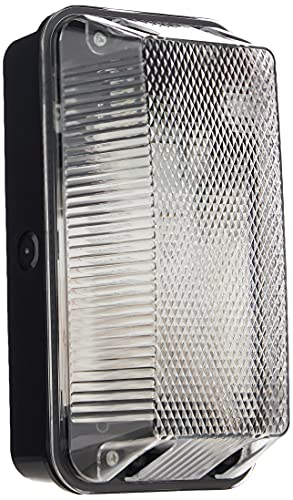 Knightsbridge 230V IP65 60W B22 Bulkhead with Clear Prismatic Diffuser and Black Plastic Base from Knightsbridge