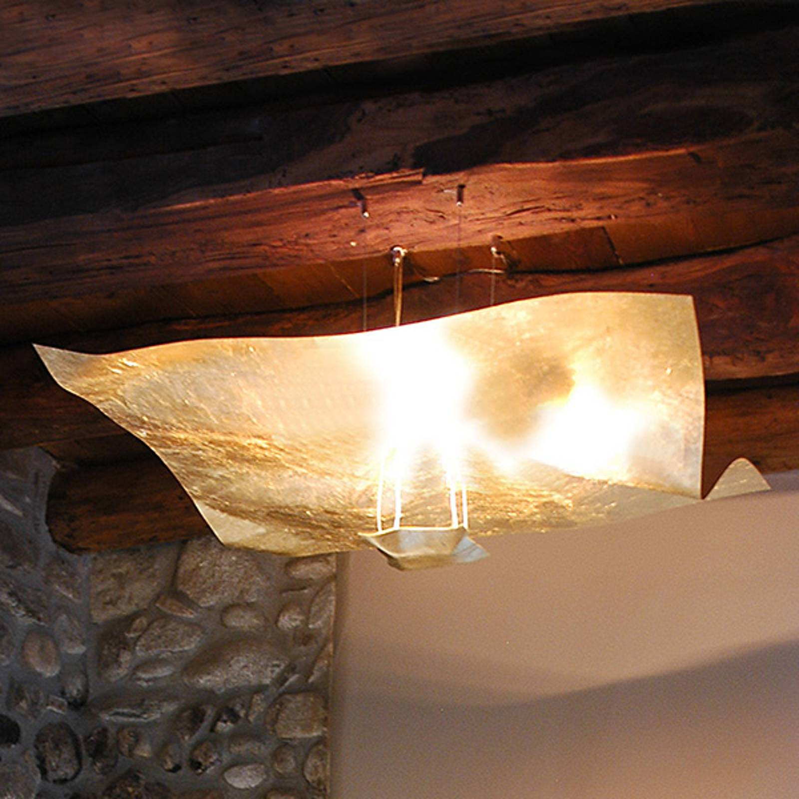 Knikerboker Crash gold hanging light 100 cm from Knikerboker
