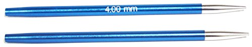 KnitPro Zing: Knitting Pins: Circular: Interchangeable: Special: 4.00mm, Aluminium, Multi-Colour, 4mm from KnitPro