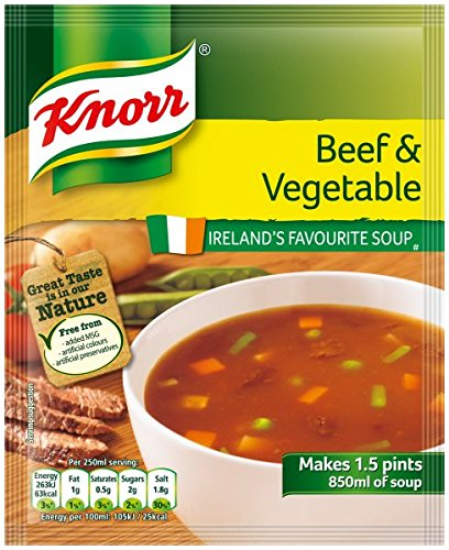 Knorr Beef & Vegetable Soup ( 5 X 60g ) - Sold by DSDelta Ltd from Knorr Oxtail Soup