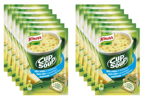 Knorr Delicious Instant Cheese Soup in a Cup [Pack of 12] from Knorr