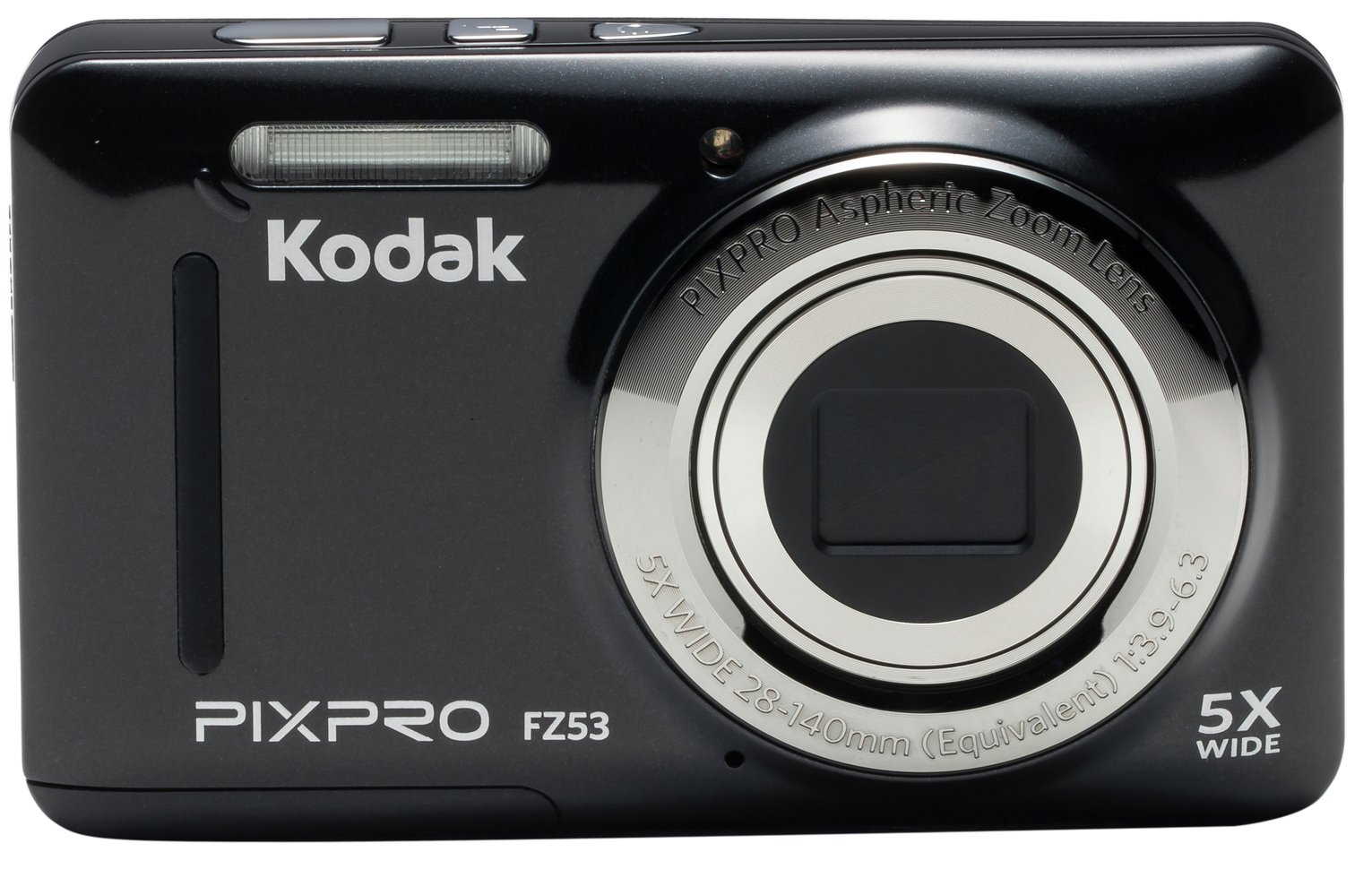 Kodak PixPro FZ53 Mirrorless Camera With 5.1-25.5mm Lens - Black from Kodak PixPro