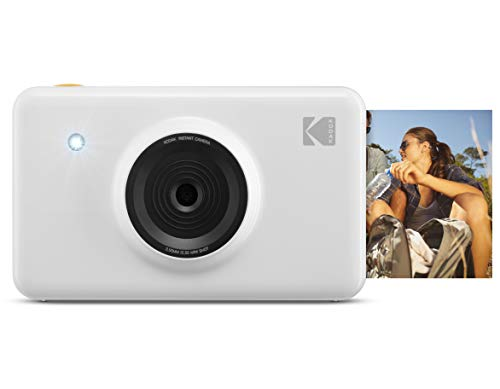 Kodak Mini Shot Wireless Instant Digital Camera & Portable Photo Printer, LCD Display, Premium Quality Full Color Prints, Compatible w/iOS & Android (White) from KODAK