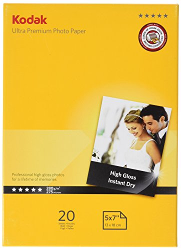 Kodak Supplies 185Z000360 Ultra premium photo paper 20 Sheets 280gr 13x18cm from Kodak Supplies