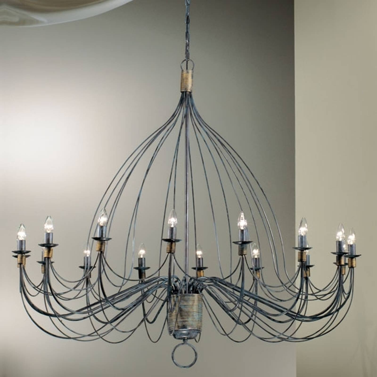Chandelier FILO, 140 cm, sixteen bulbs from Kögl