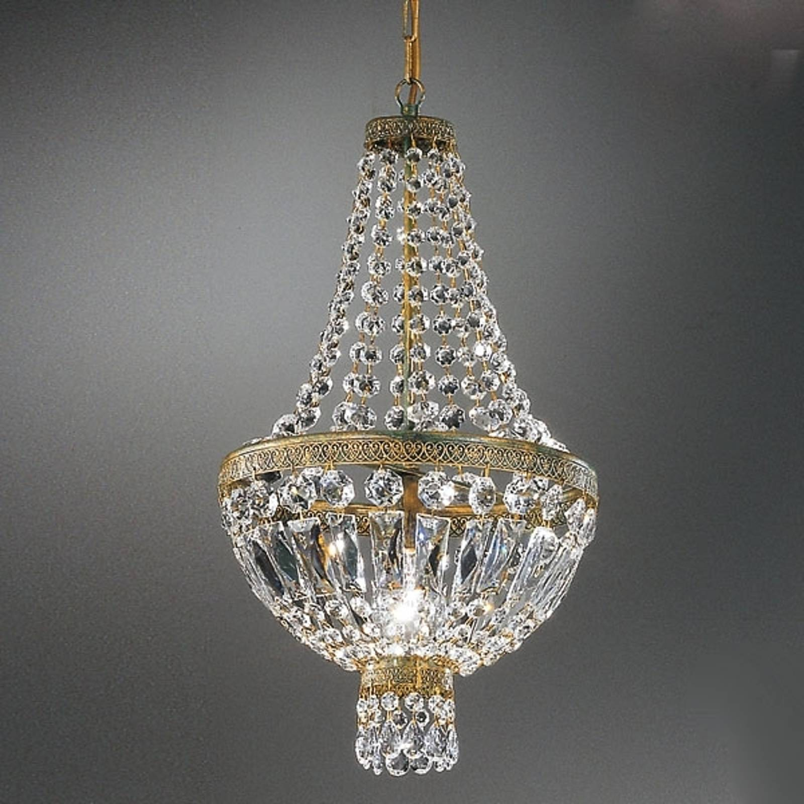 Crystal hanging light CUPOLA from Kögl