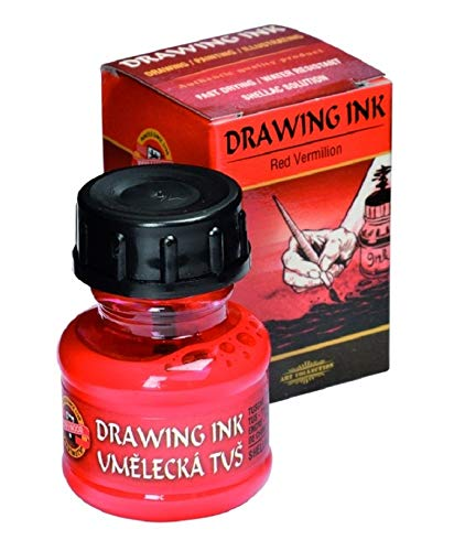 KOH-I-NOOR Artist's Drawing Ink - Vermilion Red from Koh-I-Noor