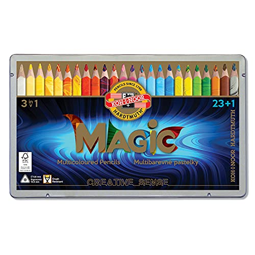 KOH-I-NOOR MAGIC Jumbo Triangular Coloured Pencil (Pack of 24) from Koh-I-Noor