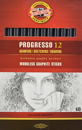 KOH-I-NOOR Progresso 6B Woodless Graphite Pencil (Box of 12) from Koh-I-Noor