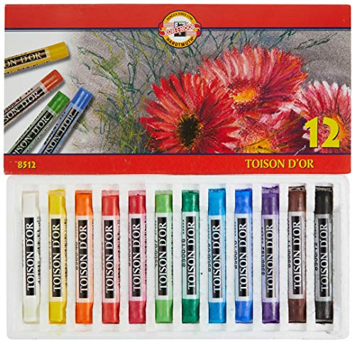 KOH-I-NOOR TOISON D'OR 8512 School Dry Chalks (Pack of 12) from Koh-I-Noor