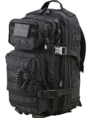Kombat   Unisex Outdoor Molle Backpack available in Black - 28 Litres from Kombat UK