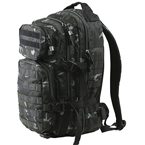 Kombat   Unisex Outdoor Molle Assault Pack Backpack available in Black - 28 Litres from Kombat UK