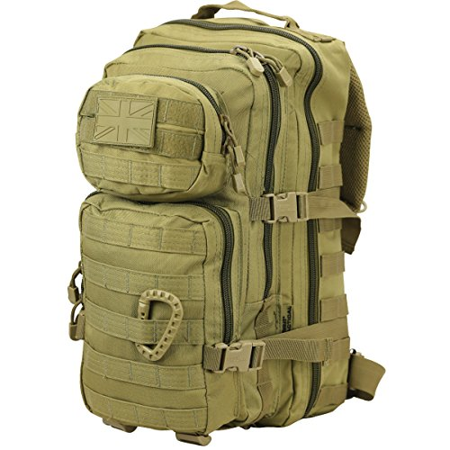 Kombat  Molle Assault Unisex Outdoor Camping Daypack available in Green - 28 Litres from Kombat UK