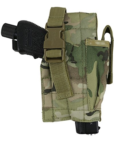 Kombat Tactical Molle Holster With Pistol Mag Pouch BTP from Kombat