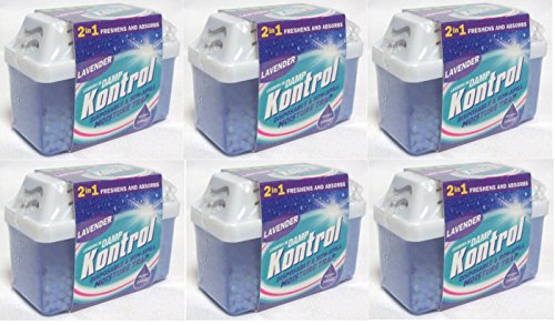 6 x Kontrol Mini Moisture Trap - Freshens Air and Absorbs Damp lavender Scent from Kontrol