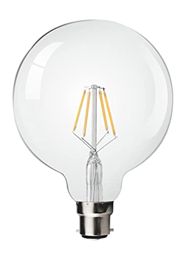 Kosnic 4.5w LED Filament Large Globe Bulb (BC, B22, bayonet NON-DIMMABLE) from Kosnic