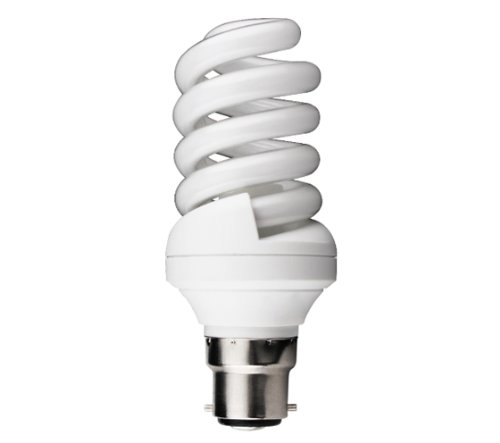 Kosnic B22 24 Watt 6500 K Energy Saving Light Bulb with Quick Start Spiral, 8000 hr from Kosnic