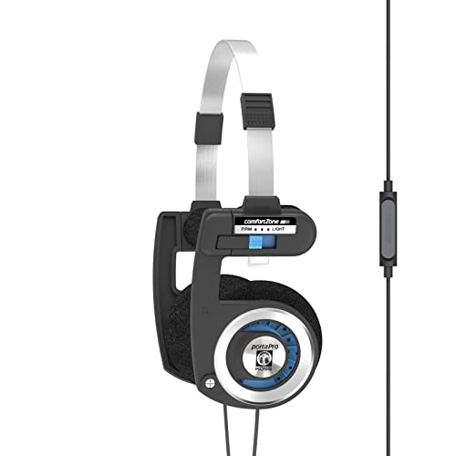 Koss Porta Pro Stereo On-Ear Headphones with Microphone and Remote - Black/Silver from Koss