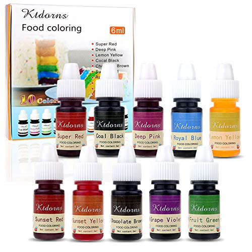 Food Colouring Food dye Flo Concentrated Liquid Food Air Brush - 10 Colours from Ttdm