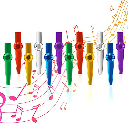 Ukulele Metal Kazoo Musical Instruments 6 Different Colors Aluminum Alloy Metal Kazoo Kids Set A Good Companion for Guitar Piano Keyboard Great Christmas Gift for Kids Music Lovers Violin
