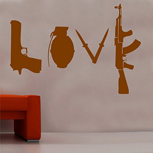 Banksy Love Weapons Wall Sticker from Kult Kanvas