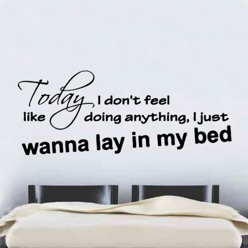 Bruno Mars The Lazy Song Lyrics Wall Sticker from Kult Kanvas