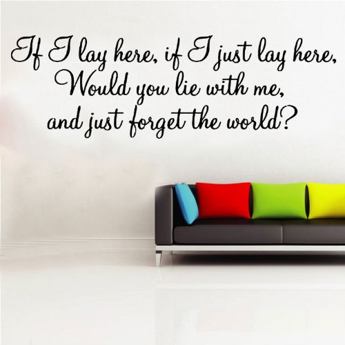 If I Just Lay Here Snow Patrol Lyrics Decal Wall Sticker (ml6) from Kult Kanvas