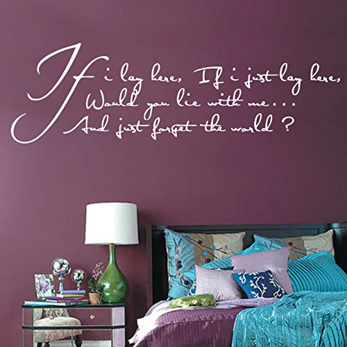 If I lay here, if I just lay here Song Lyrics Decal Wall Sticker (ml11) from Kult Kanvas