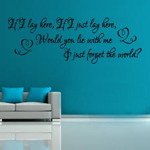 If I lay here,if I just lay here Song Lyrics Wall Sticker from Kult Kanvas