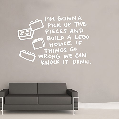 Lego House Lyrics Decal Wall Sticker (ml8) from Kult Kanvas