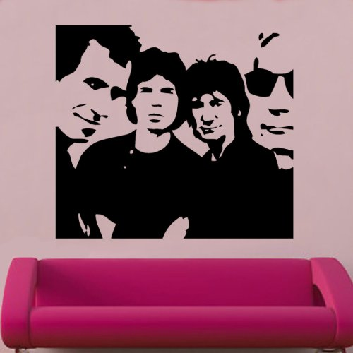 Rolling Stones Decal Wall Sticker (cel70) from Kult Kanvas
