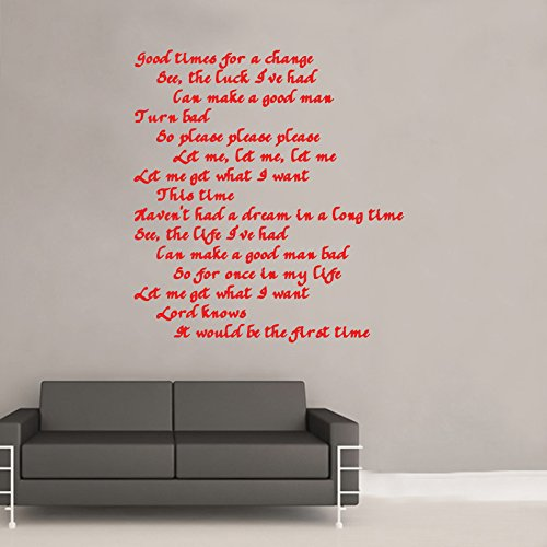 The Smiths Please Please Please Lyrics Decal Wall Sticker from Kult Kanvas