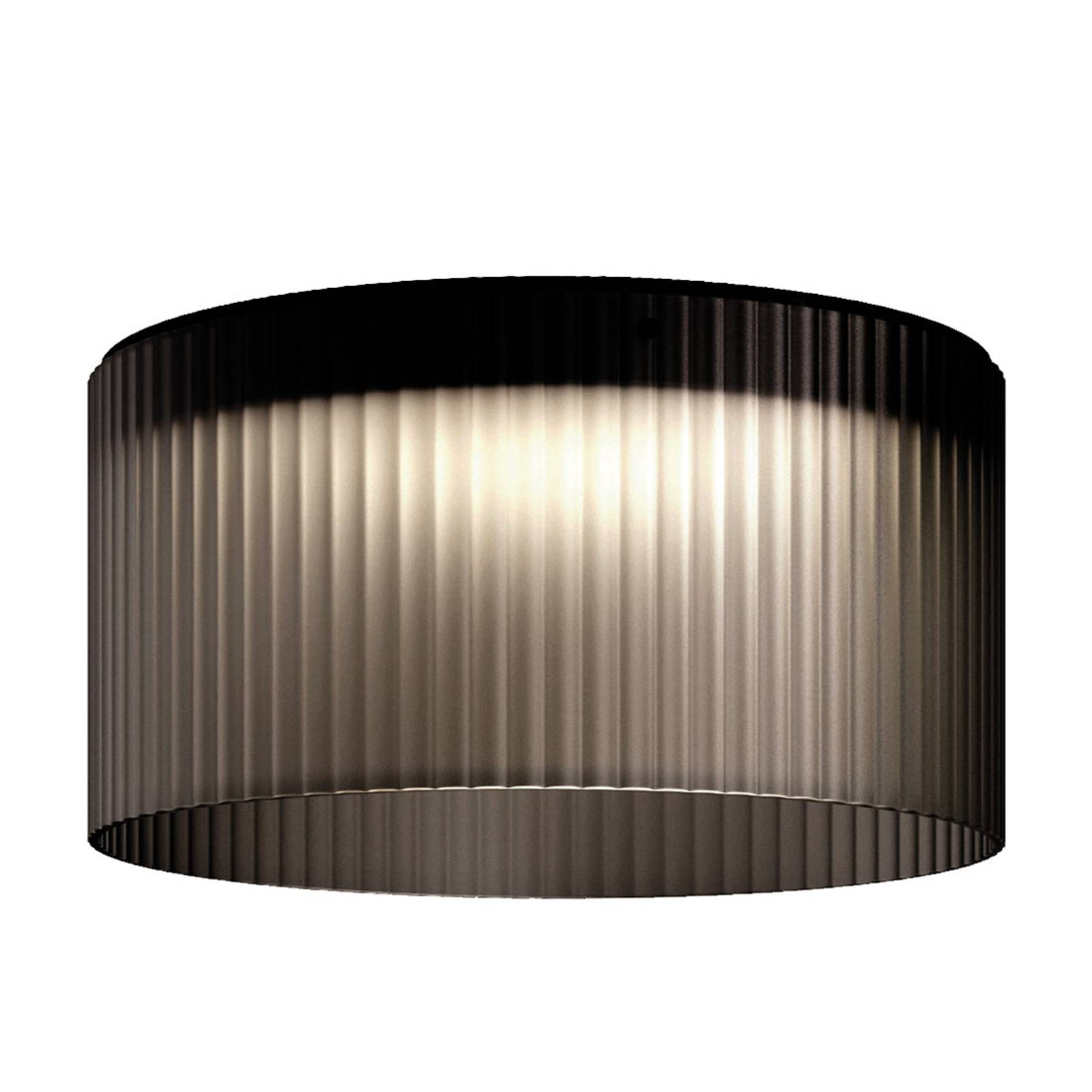 Kundalini Giass - LED ceiling light Ø 50 cm, grey from Kundalini