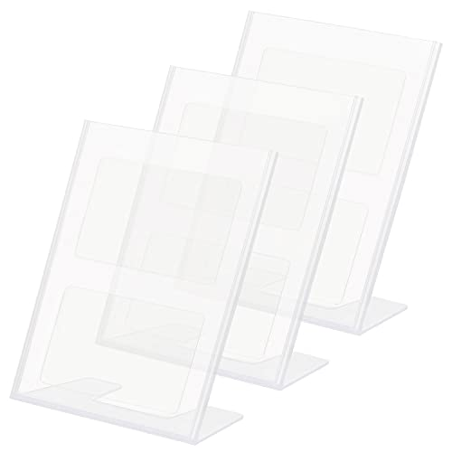Kurtzy 3 Pack A4 Acrylic Poster Menu Holder Display Stands - Acrylic Sign Display Holder A4 30 x 21.5cm for Menu Holders, Table Card Holders, Photo Frames & Ad Frames from Kurtzy