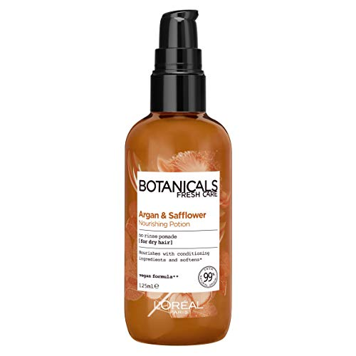 L'Oreal Paris Botanicals Argan & Safflower Dry Hair Vegan Hair Potion 100ml (Packaging May Vary) from L'Oreal