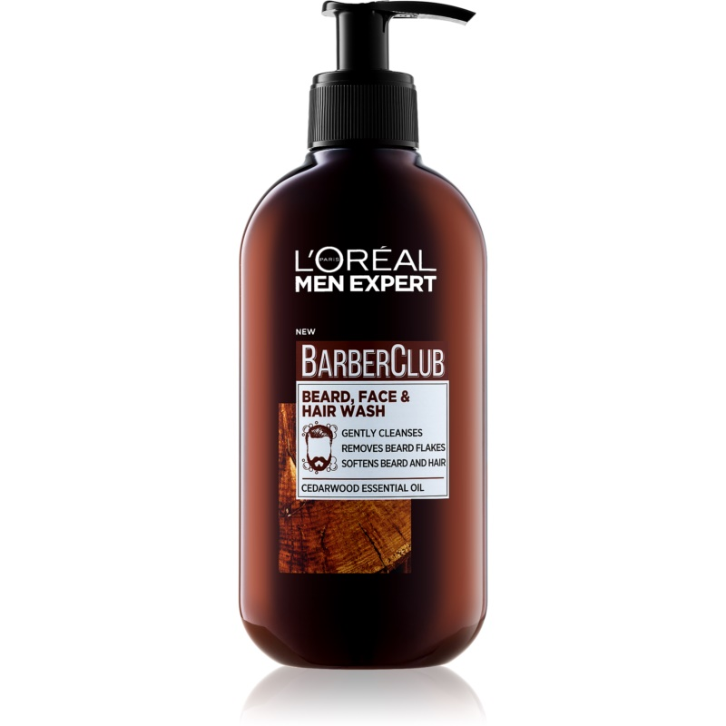 L'Oréal Paris Barber Club Gel Cleanser for Beard, Face and Hair 200 ml from L'Oréal Paris