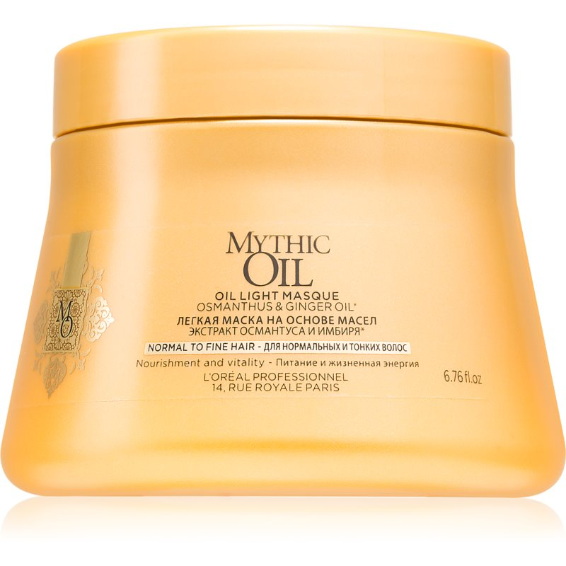 L'Oréal Professionnel Mythic Oil Oil Mask for Normal and Fine Hair paraben and silicone free 200 ml from L'Oréal Professionnel