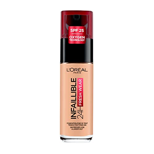 L'Oreal Paris Infallible 24H Foundation, 125 Natural Rose, 30 ml from L'Oreal Paris