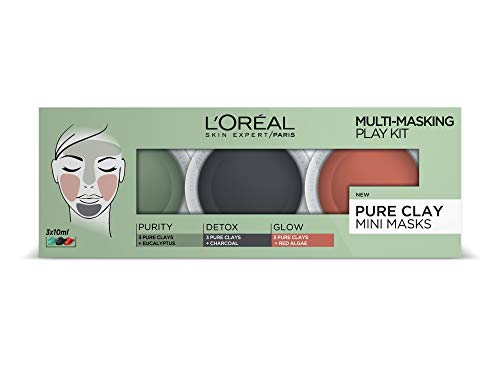 L'Oreal Paris 3 Pure Clays Multi-Masking Face Mask Play Kit, 3x10ml from L'Oreal