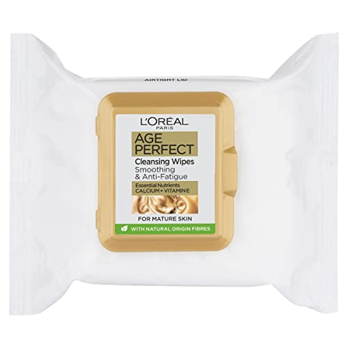L'Oreal Paris Age Perfect Cleansing Smoothing Face Wipes for Mature Skin x25 from L'Oreal