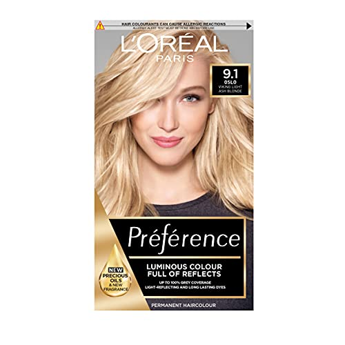 L'Oreal Preference Infinia 9.1 Viking Light Ash Blonde Hair Dye from L'Oreal