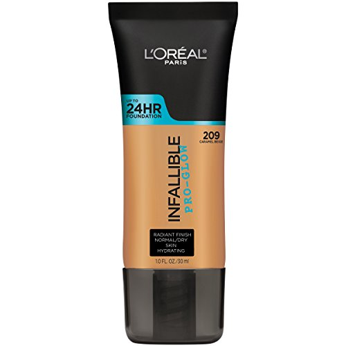 L'Oréal Paris Infallible Pro Glow Longwear Foundation, 209 Caramel Beige, 30 ml (Amazon Exclusive) from L'Oreal