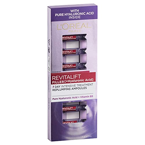 L'Oreal Paris Revitalift Filler Hyaluronic Acid Replumping Ampoules 7 Day Anti Ageing Skin Treatment 7 x 1.3 ml from L'Oreal