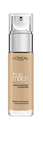 L'Oreal Paris True Match Liquid Foundation, Skincare Infused with Hyaluronic Acid, SPF 17, Available in 40 Shades, 3N Creamy Beige, 30 ml from L'Oreal