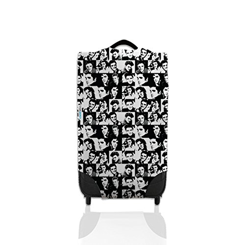 Black & White Elvis Design Suitcase Cover Easily Identify Your Case On The Carousel *Suitcase Not Included* Large from L&S PRINTS