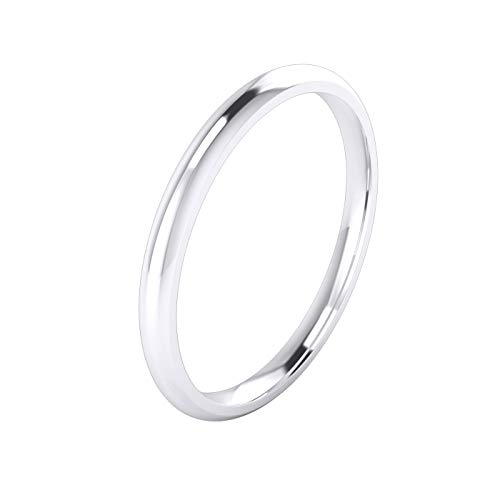 Unisex Sterling Silver 2mm Super Heavy Court Shape Polished Wedding Ring (Z) from LANDA JEWEL