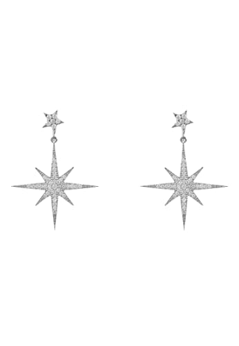 Petite Star burst Drop Earring Silver from LATELITA LONDON