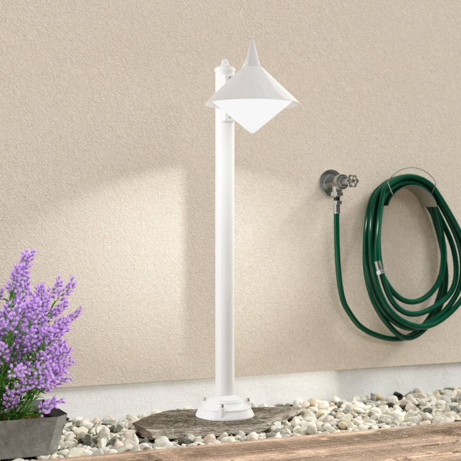 Seawater resistant path lamp Liara, white from LCD