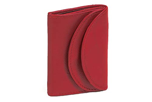 LEAS Small Men's and Women's Wallet, Genuine Leather, Cherry Mini-Edition'' from LEAS