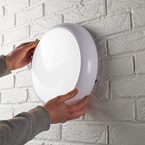LED Bulkhead Fitting 18Watt IP65 White Base 2D Fitting from LEDBRITE